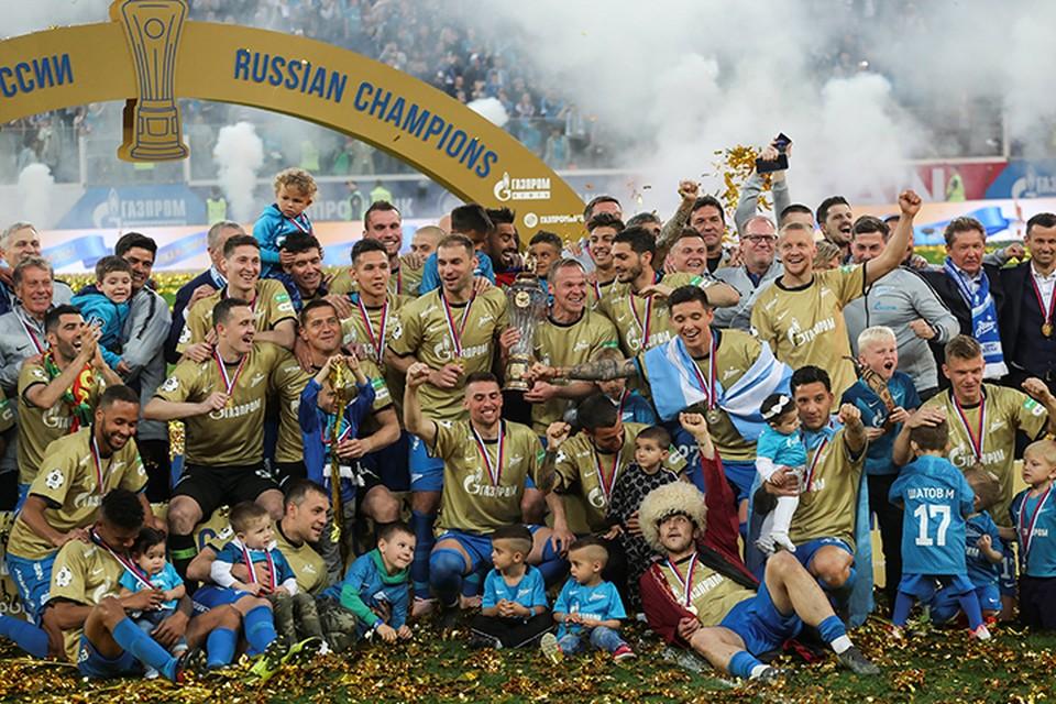 65-тысячный стадион праздновал чемпионство «Зенита»