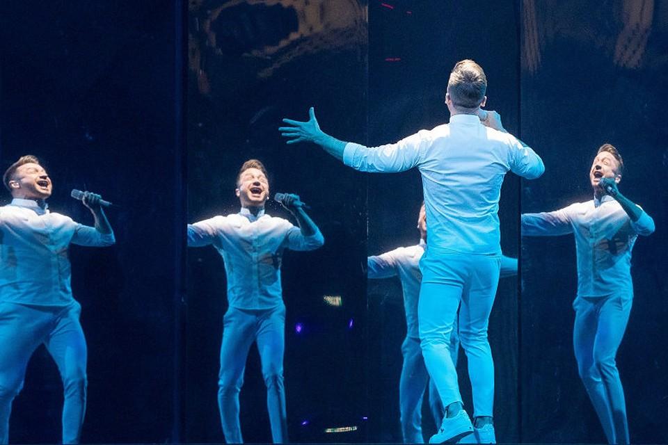 Во время репетиции номера Сергея Лазарева в Тель-Авиве.