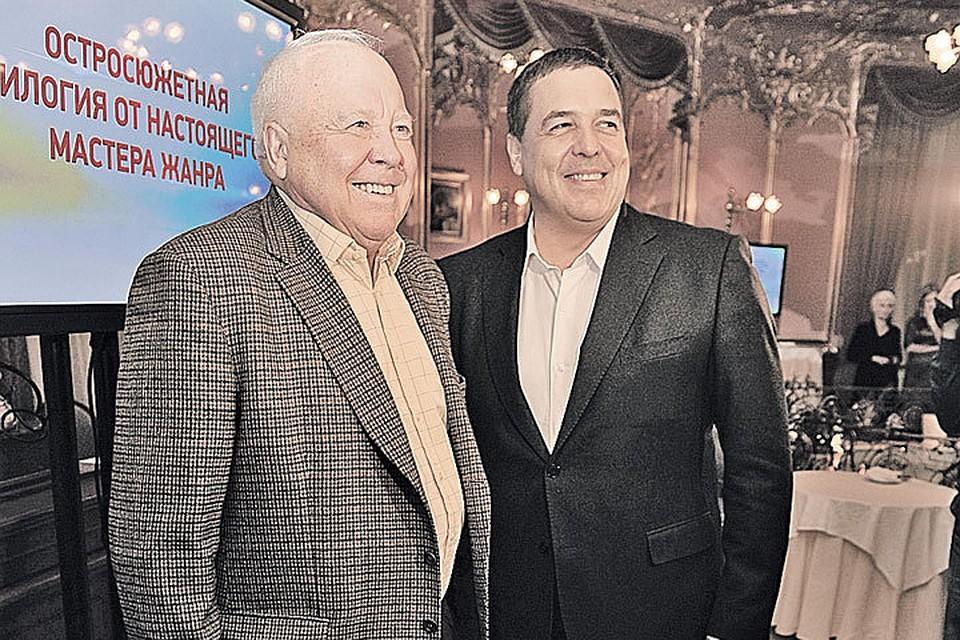Михаил Любимов вместе с сыном Александром на презентации своей новой книги «И ад следовал за ним», в которой он описал своего бывшего зама и предателя Олега Гордиевского.