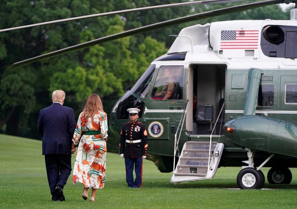 Инцидент произошел вскоре после того, как Трамп покинул территорию Белого дома