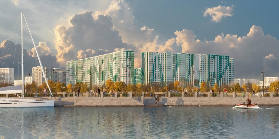 Квартал возводится на намывных территориях Васильевского острова. Фото компании «Лидер Групп».