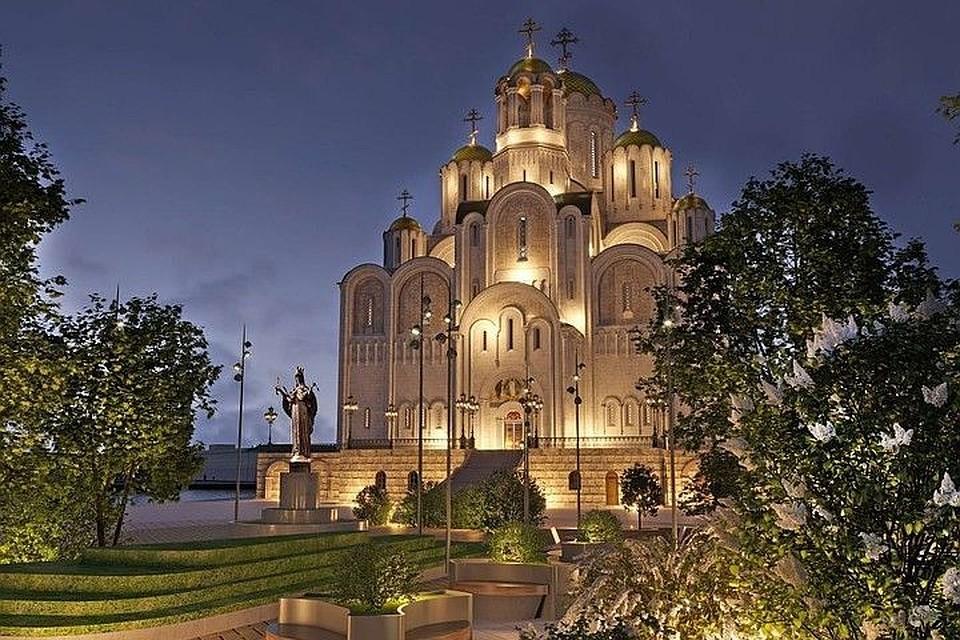 Так мог выглядеть храм, если бы его построили в сквере у Театра драмы. Фото: minstroy.midural.ru