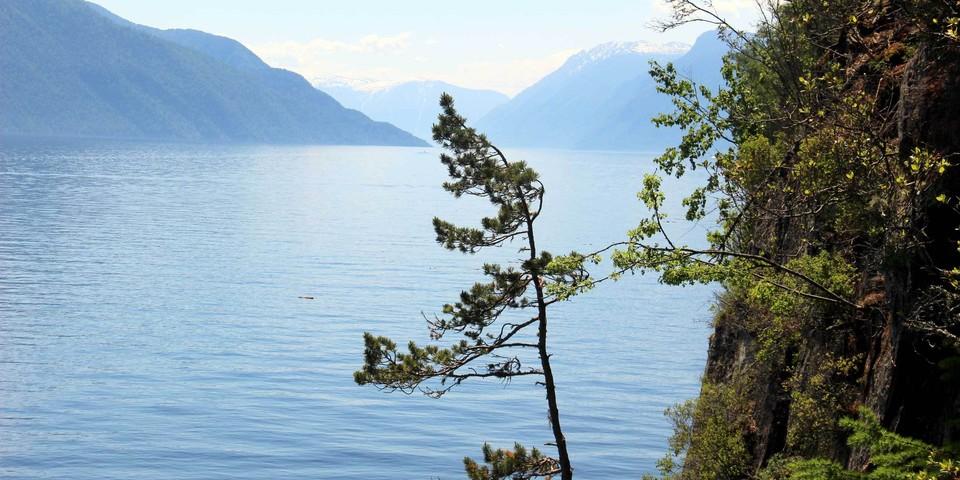 Телецкое - единственное пресное озеро в России, не замерзающее зимой.