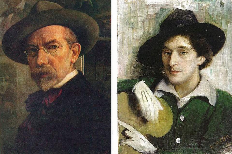 Пэн писал много автопортретов (слева) и портретов, среди которых один из самых известных – портрет его ученика Марка Шагала (справа).