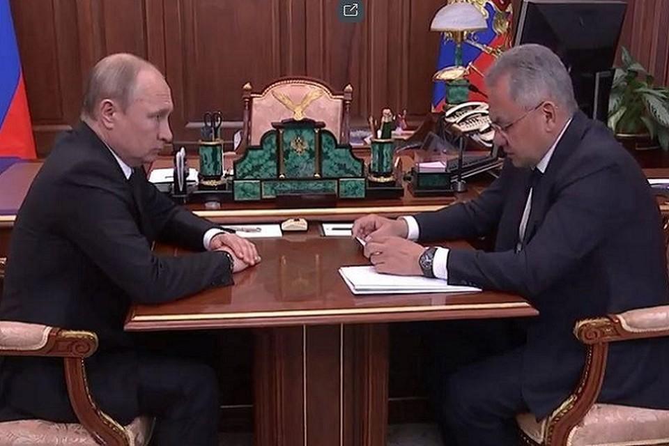 Владимир Путин выслушал доклад Сергея Шойгу о ЧП в Североморске