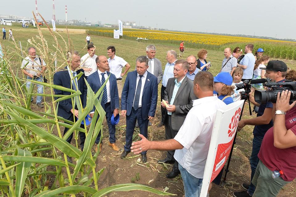 Саратовским фермерам на Дне поля показали экспериментальный агрополигон «ФосАгро»