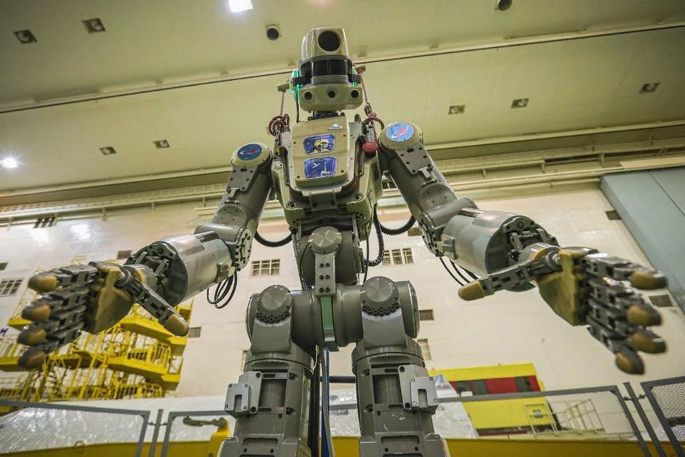 Робот Федор проходит предполетное тестирование на «Байконуре». Фото: Роскосмос.