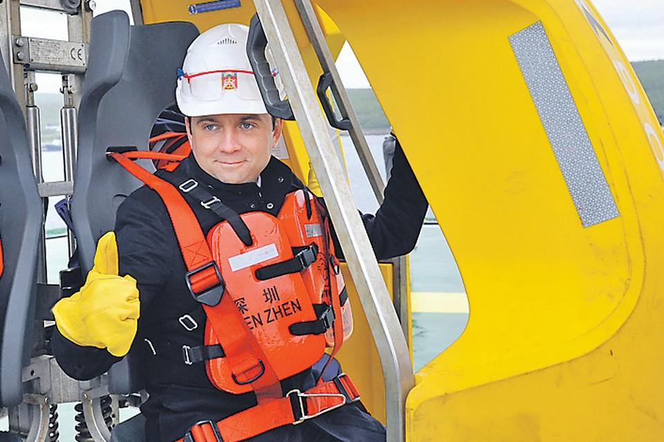 Врио губернатора Мурманской области Андрей Чибис на плавучей буровой установке. Автор фото: Лев ФЕДОСЕЕВ/ТАСС