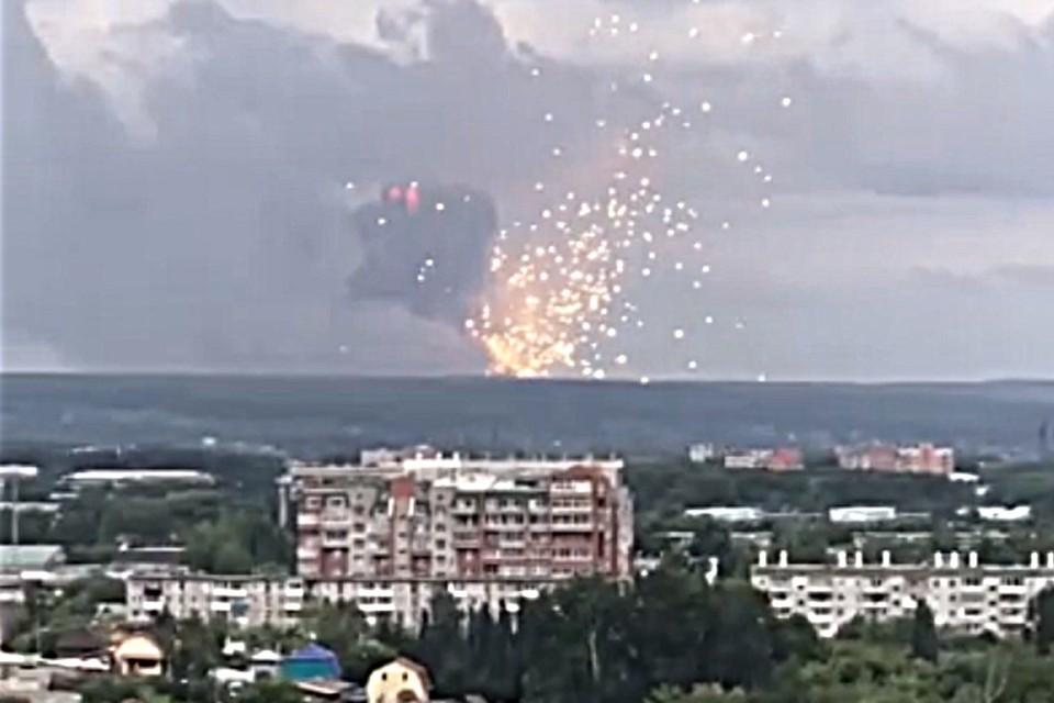 Около 18.00 в Ачинске прогремели мощные взрывы