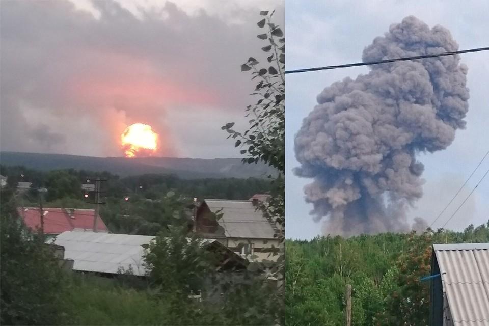 Под Ачинском произошел взрыв на складе с боеприпасами