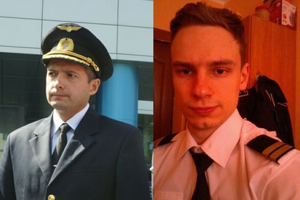 Командир судна Дамир Юсупов (слева) и второй пилот Георгий Мурзин. Фото: Алексей Булатов/соцсети