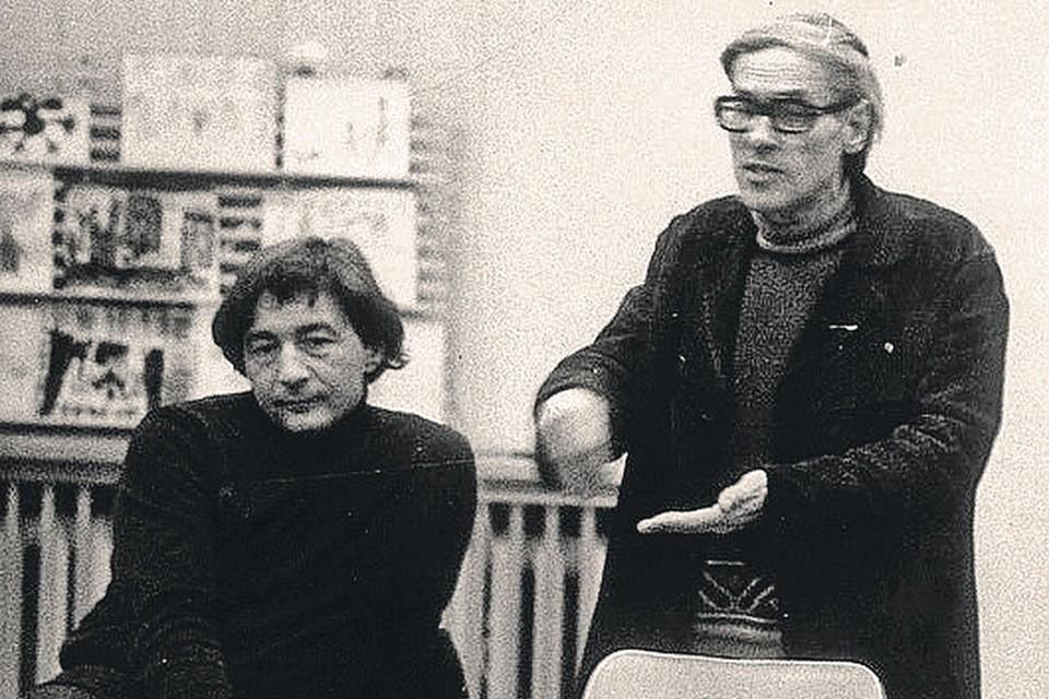 Эдуард Успенский (слева) и Юрий Дружков. Дружков - это псевдоним писателя, настоящая его фамилия Постников. Фото: Личный архив
