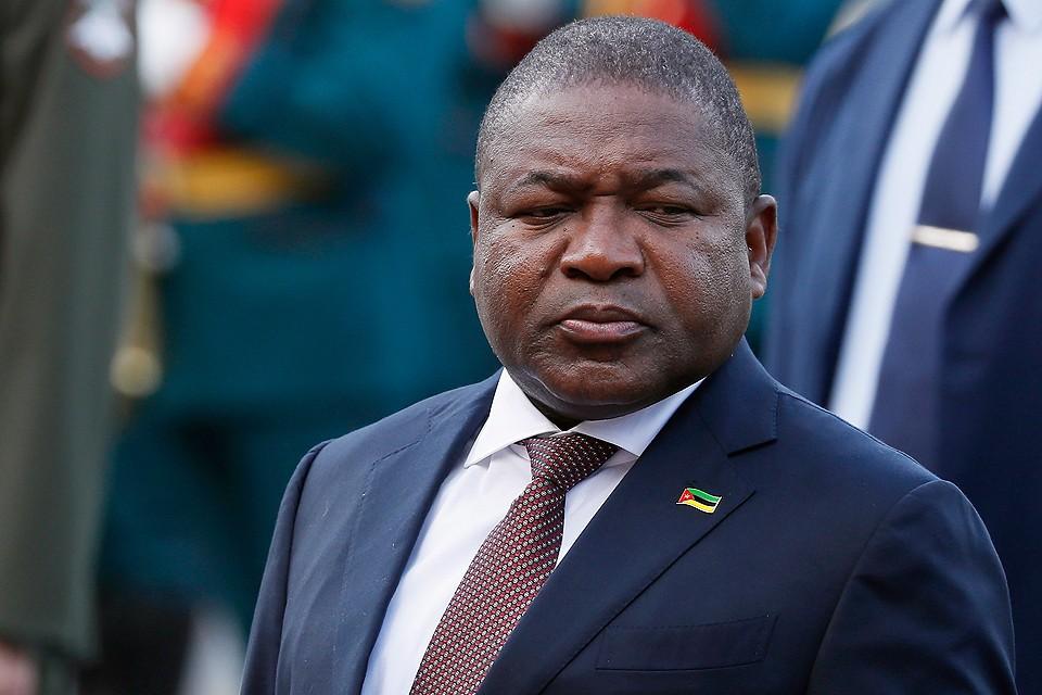 Президент Республики Мозамбик Филипе Ньюси. Фото EPA/YURI KOCHETKOV / POOL/ТАСС