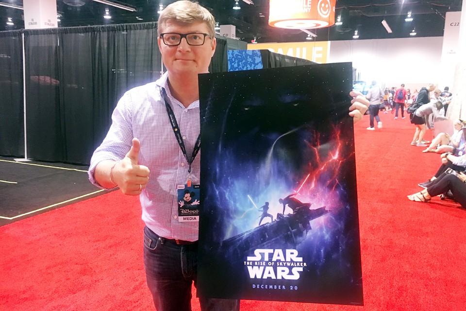 Валерий Рукобратский на презентации фильма «Звёздные Войны»: Скайуокер. Восход»