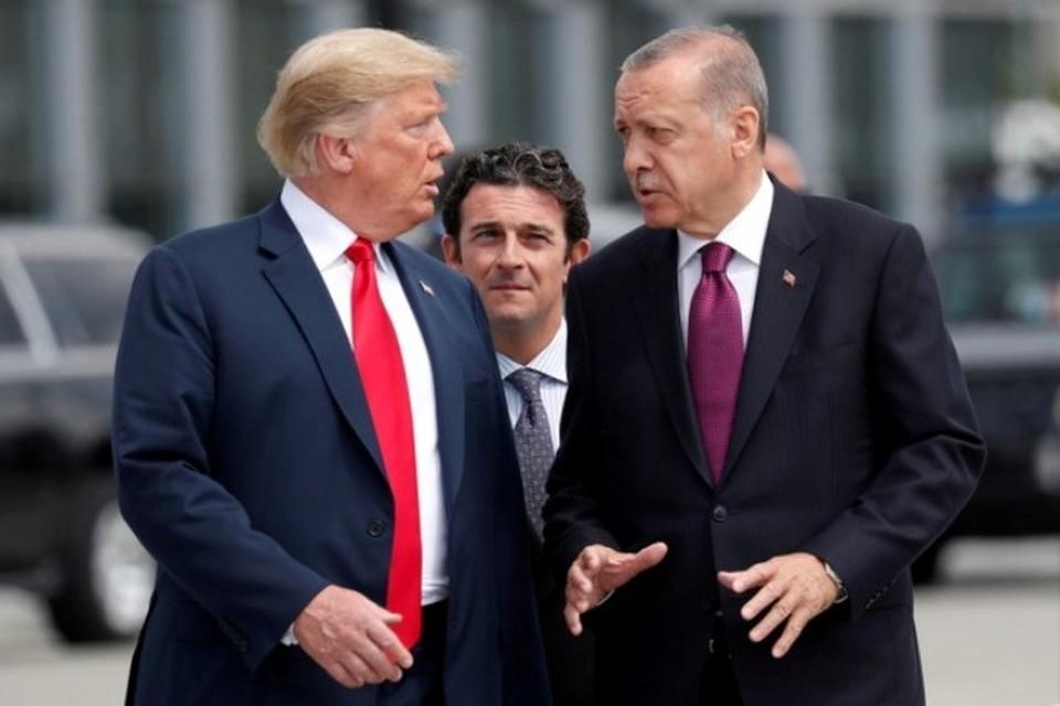 Президенты США и Турции Дональд Трамп и Тайип Эрдоган