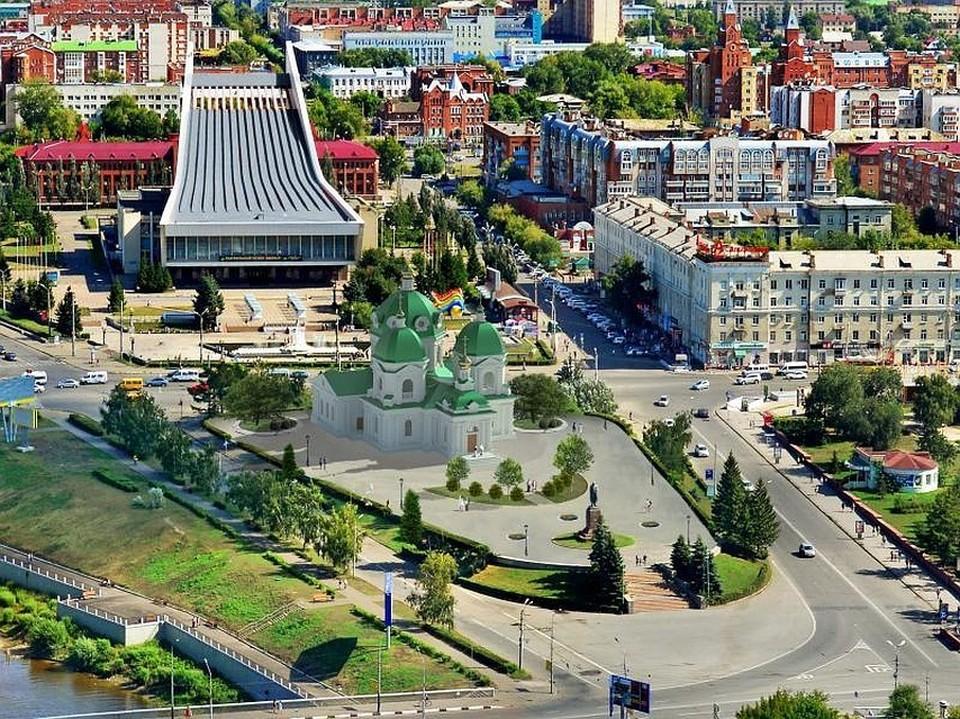 Только 14% омичей высказались за строительство Полежаевым храма в центре
