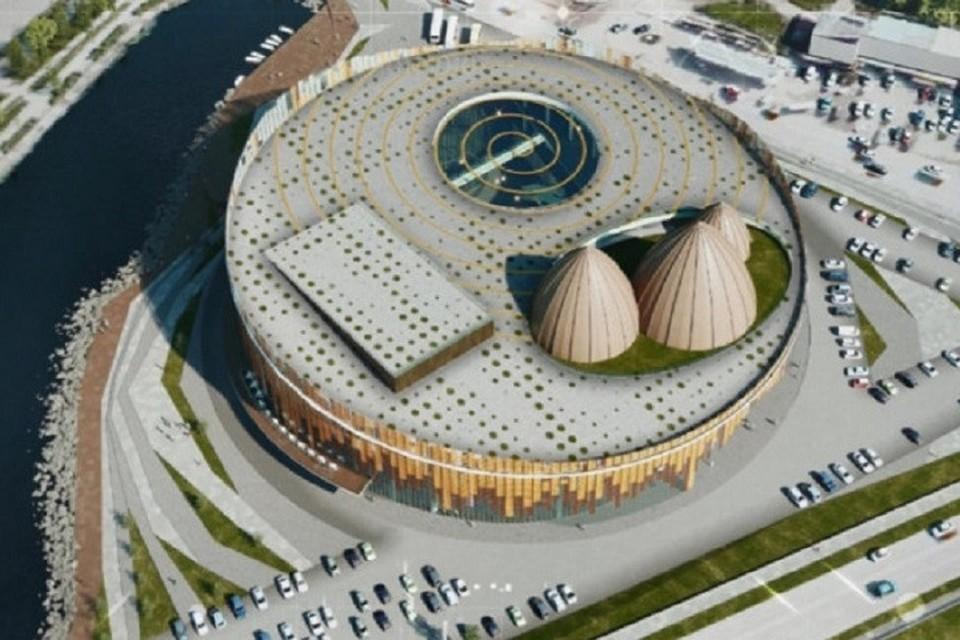 Четырёхэтажное здание площадью около 28 тысяч квадратных метров разместится на набережной озера Сайсары.