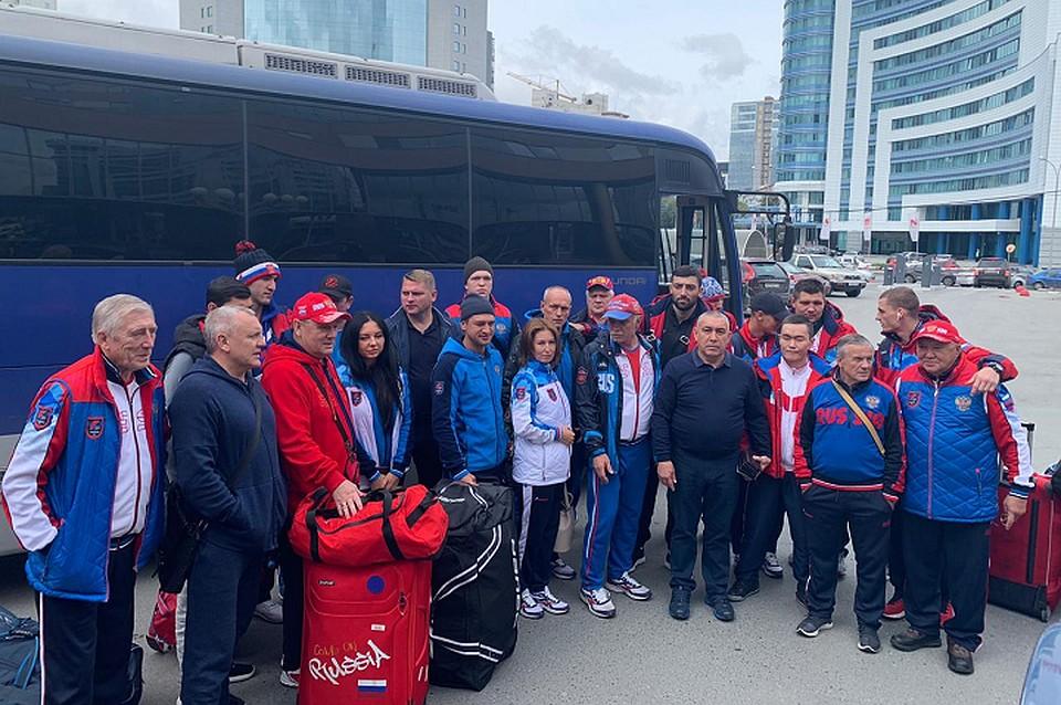 Кадр дня: Сборная России прибыла на ЧМ в Екатеринбург