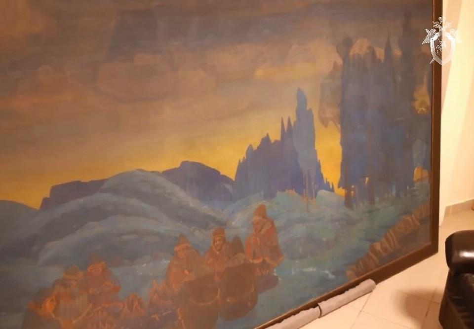 Одна только картина «Поморяне. Вечер» Рериха оценивается в 3 миллиона долларов. Фото: СК РФ