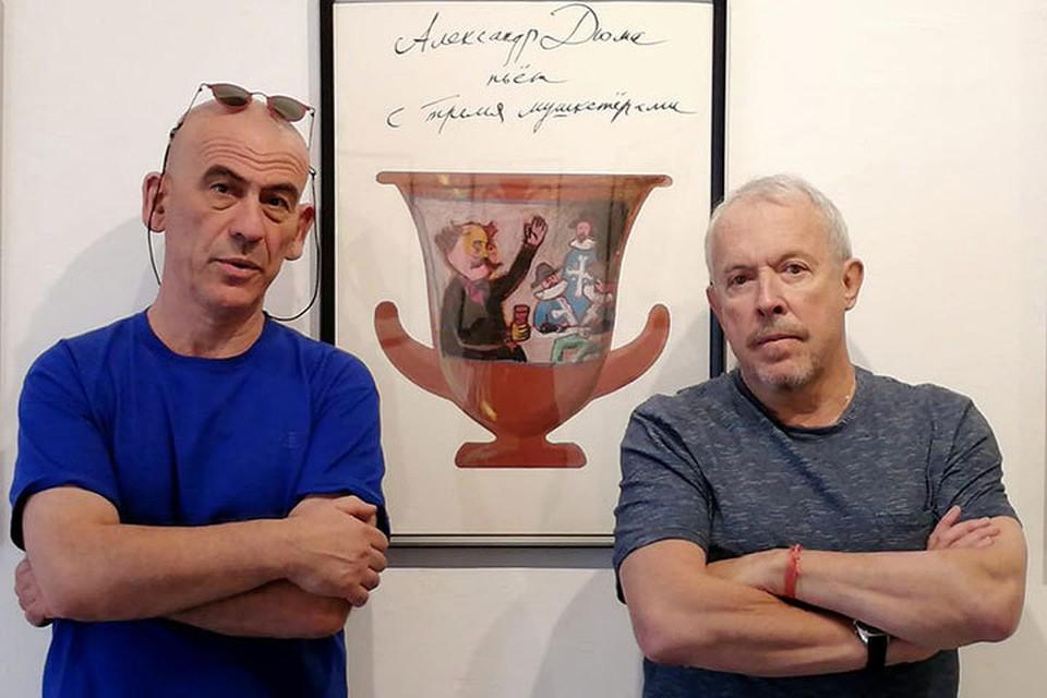 Андрей Макаревич и израильский художник Саша Галицкий. Фото: личный архив Андрея Макаревича