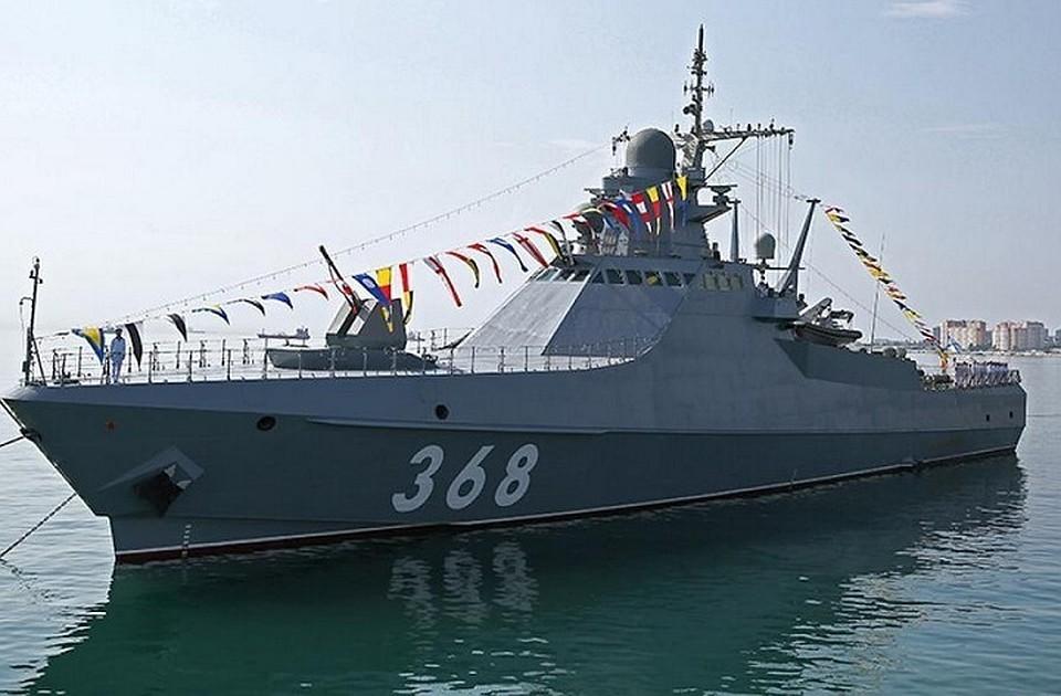 Головной патрульный корабль «Василий Быков» . Фото: пресс-служба ЧФ