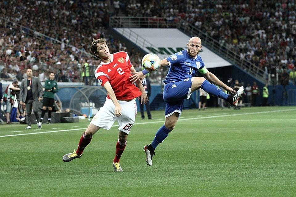 Россия сыграет против Кипра матч отборочного турнира Евро-2020.