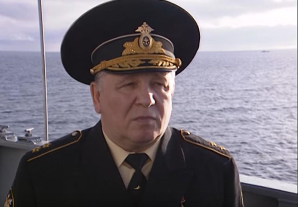 Вице-адмирал Михаил Моцак скончался в Петерурге. Фото: скриншот видео Youtube