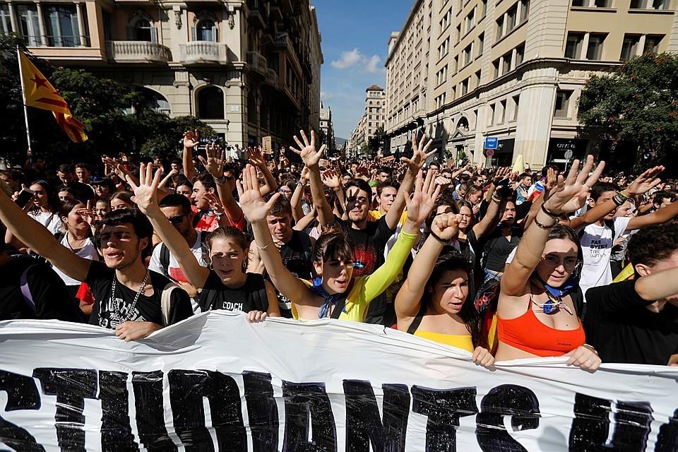 Акции протеста в Каталонии