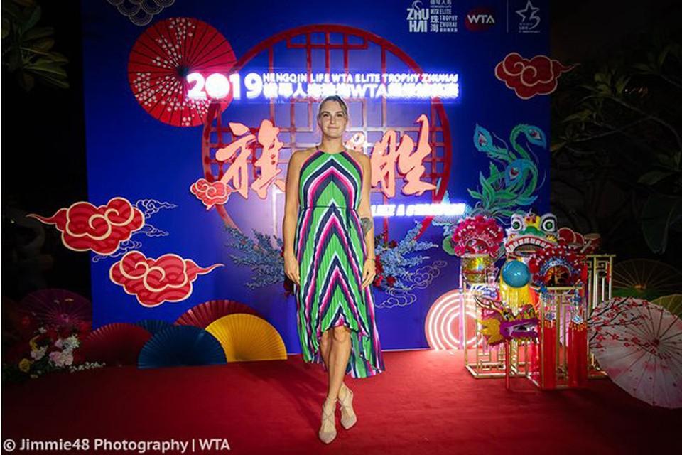 Арина Соболенко на вечеринке перед стартом Малого итогового турнира. Фото: WTA