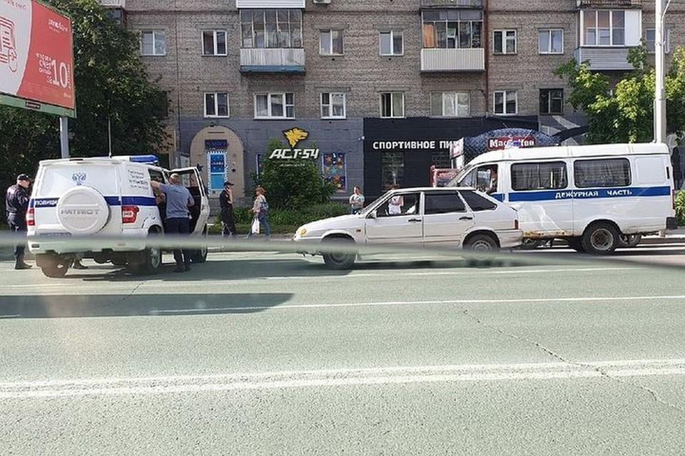 Место происшествия. Фото: Новосибирская служба эвакуации «АСТ-54»