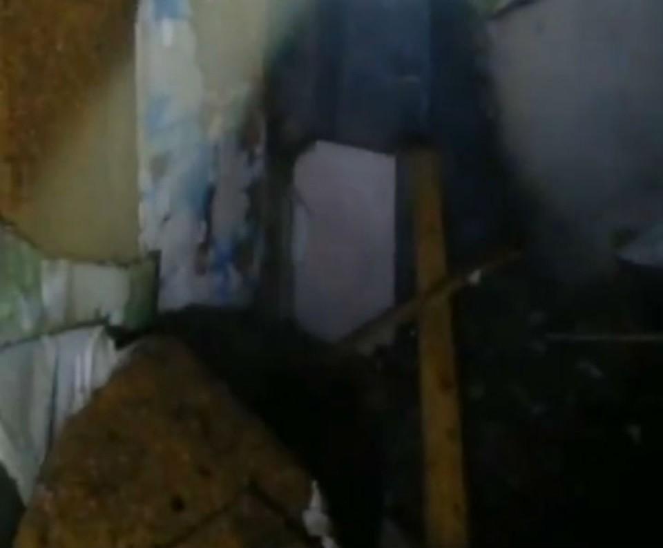 Пожар произошел в здании администрации села Харбатово Качугского района. Фото: ГУ МЧС России по Иркутской области