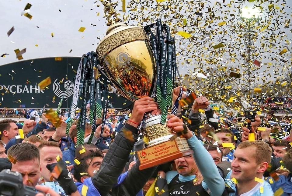 Динамо-Брест - чемпион Беларуси по футболу! Фото: www.instagram.com/dynamobrest/