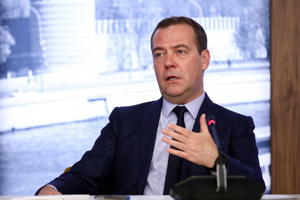 Дмитрий Медведев во время встречи с руководителями государственных информационных агентств СНГ. Фото: Сергей Бобылев/ТАСС