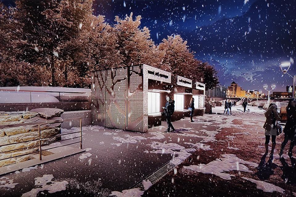 Новая набережная протянется вдоль улицы Труда до улицы Свободы. Эскиз: «УралДорПроект»