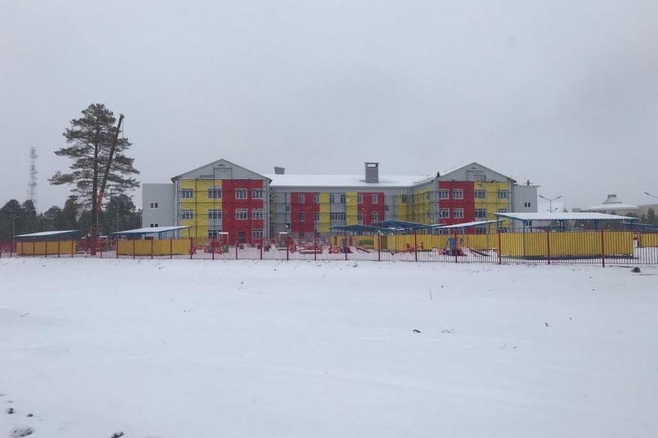 Строительство детского сада в Нижнесортымском почти завершено. Фото с сайта dumahmao.ru