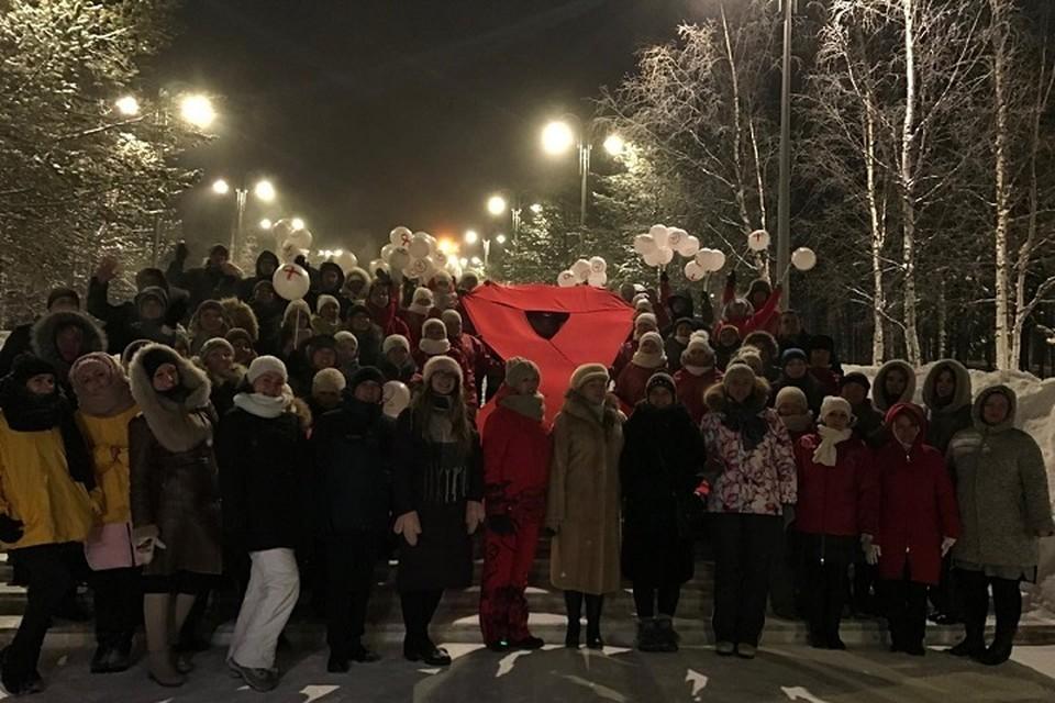 Ноябрьск поддержал акцию борьбы с ВИЧ. Фото с сайта администрации города Ноябрьск
