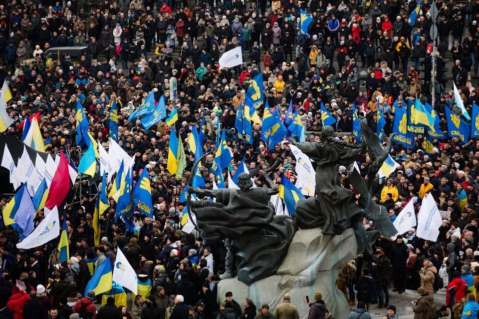 Противники Зеленского установили палатки у президентского офиса
