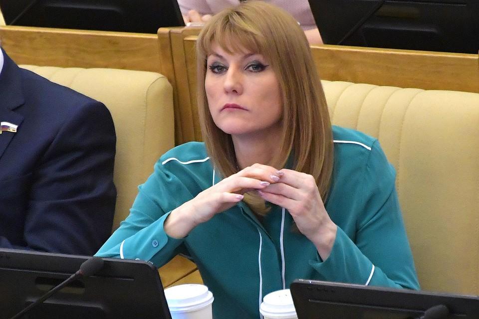 Депутат Светлана Журова на пленарном заседании Государственной думы РФ.