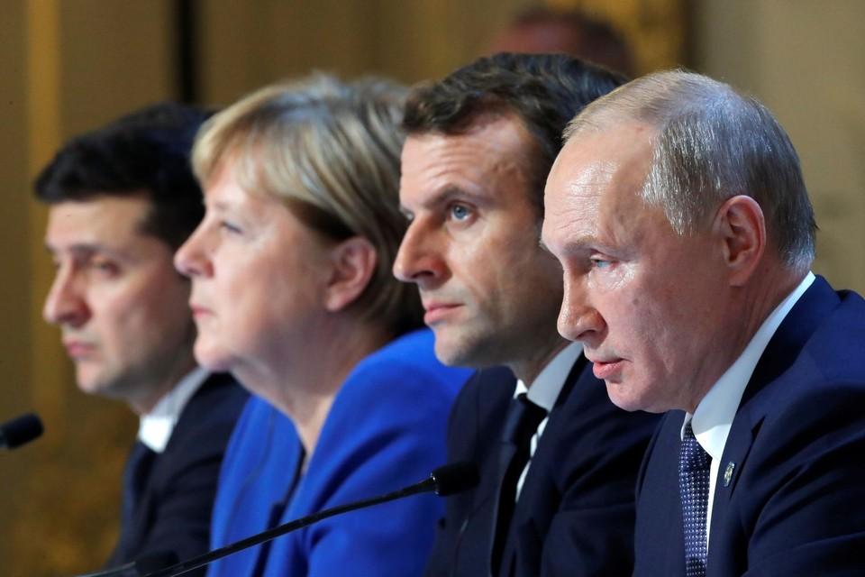 Нормандский марафон в Париже: Путин и Зеленский договорились о первых шагах в Донбассе