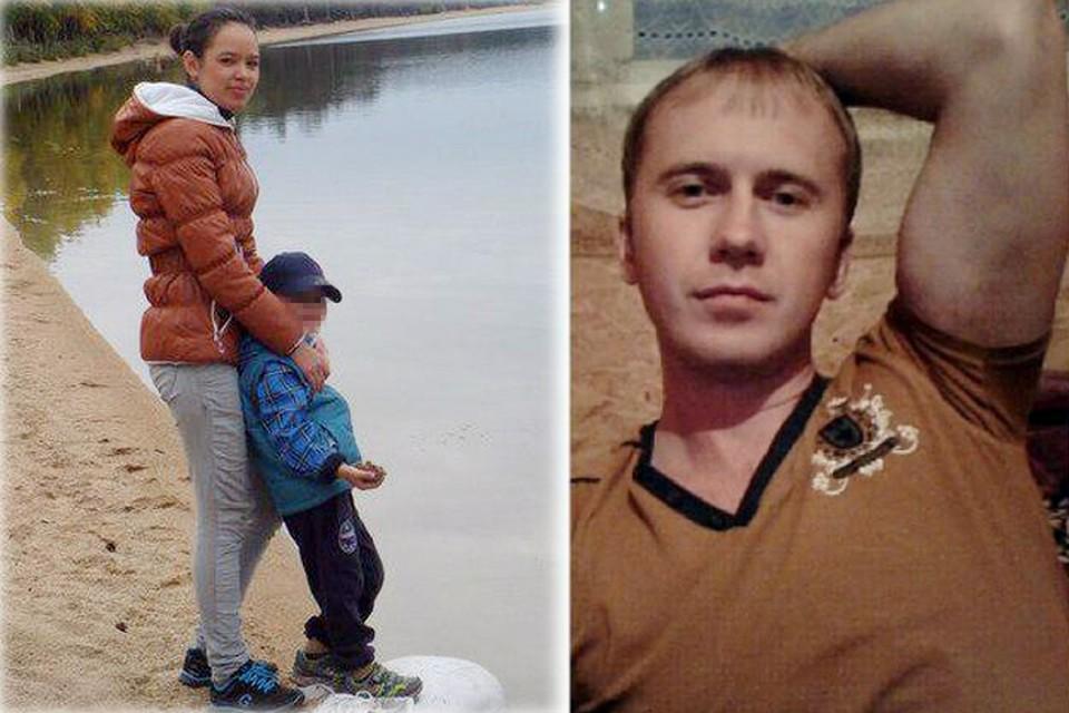 Тот самый отчим (на фото справа), который издевался над ребенком.