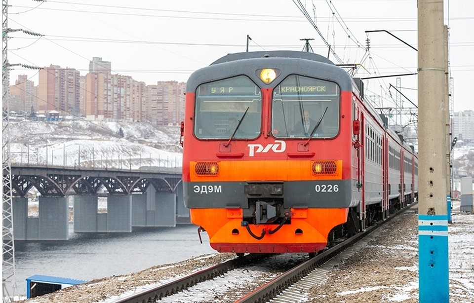 Новая остановка с видовкой появилась у городской электрички в Красноярске. Фото: КрасЖД.