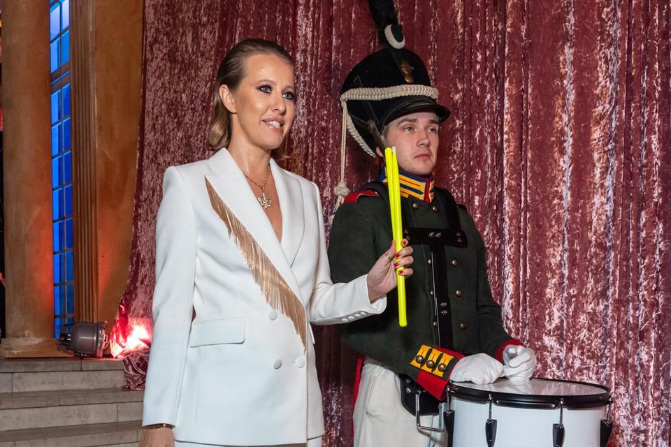 Ксения Собчак с барабанщиком