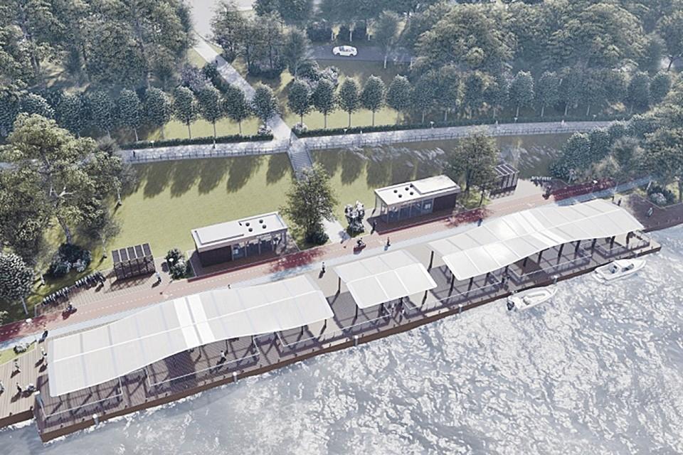Около Карамышевской набережной после реконструкции в новом году смогут останавливаться городские пассажирские суда. Фото: archsovet.msk.ru