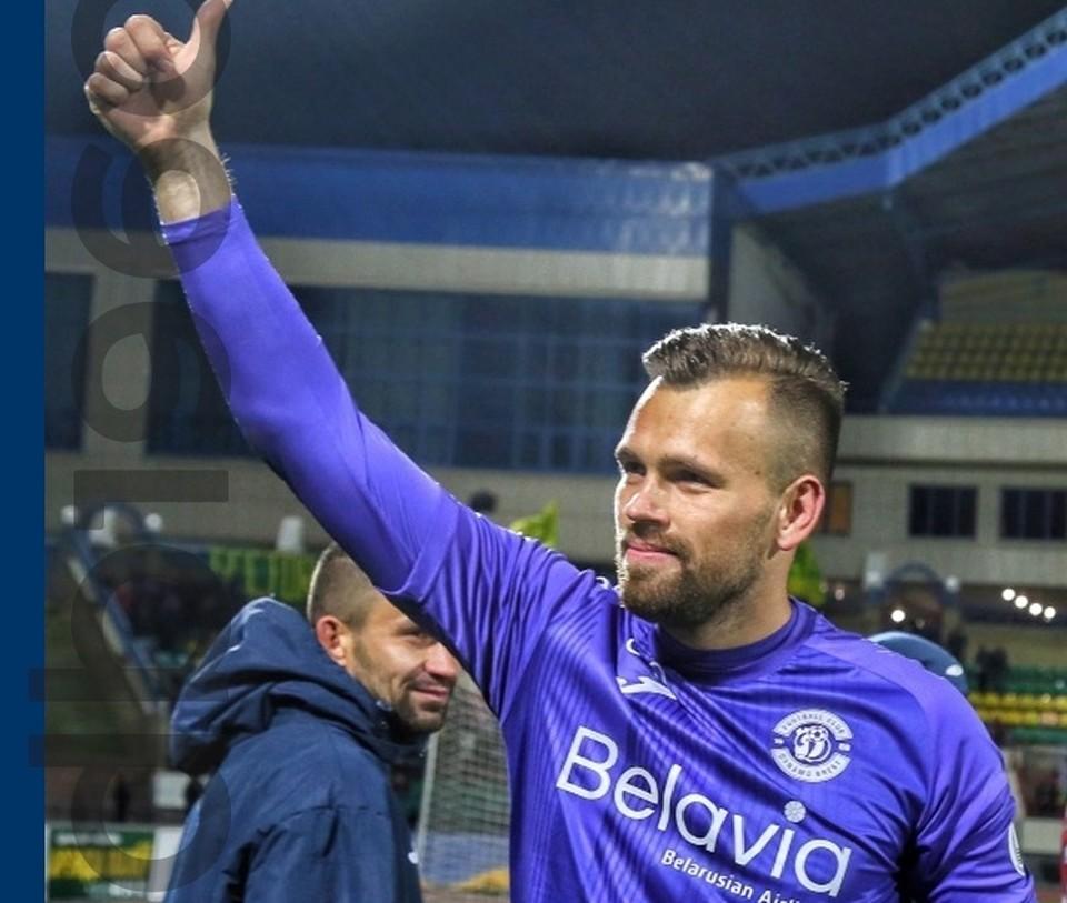 Александр Гутор в 2019 году стал чемпионом Белоруссии в составе «Динамо-Брест». Фото: vk.com/dynamobrest.