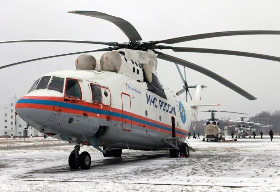 Крупнейший в мире вертолет Ми-26 экстренно сел в Красноярском крае. Фото:rhc.aero.