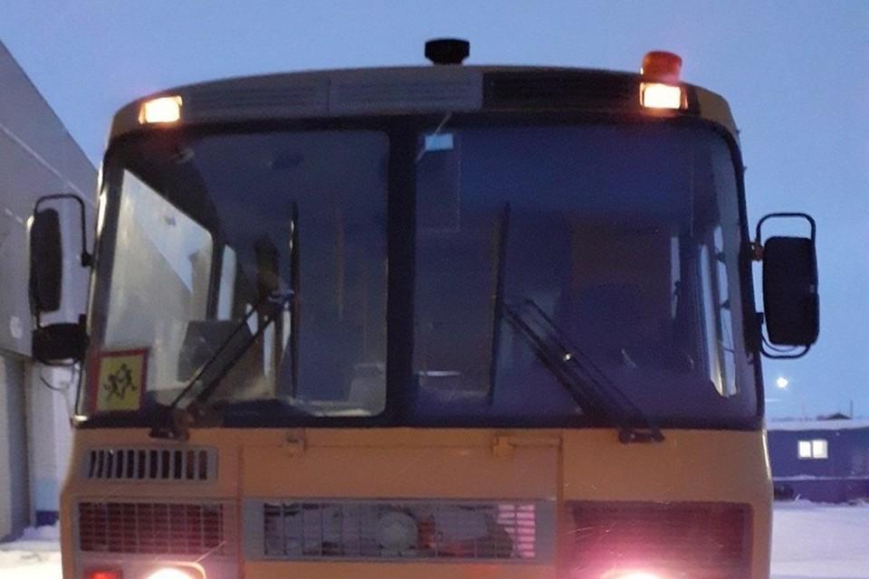 Школьный автобус в Салехарде совершил свой первый рейс Фото: Администрация Салехарда