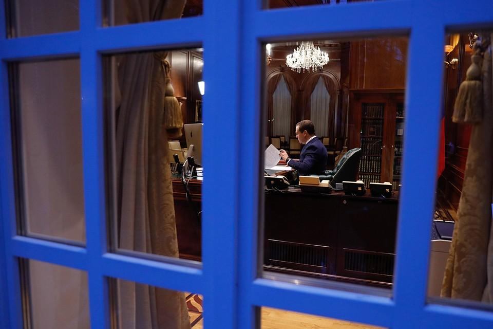 Медведев занимал резиденцию «Горки-9» во время своего президентского срока, а также будучи премьером. Фото: Дмитрий Астахов/POOL/ТАСС