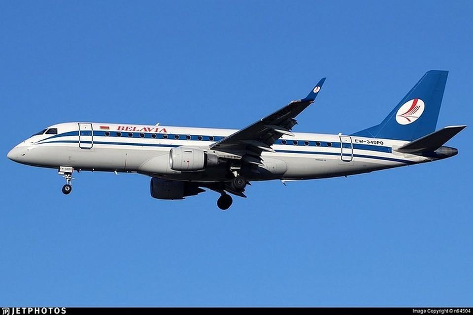 """Борт авиакомпании """"Белавиа"""" вернули, когда он уже почти долетел до границы с Германией. Фото: hetphotos.com."""