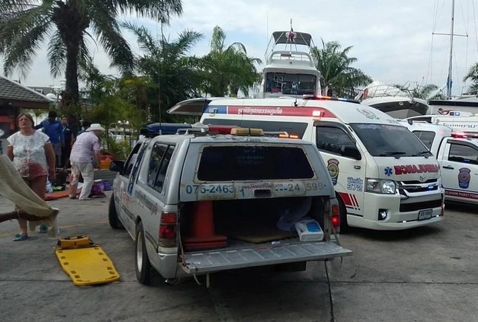 Пострадавшие находятся в четырех больницах Таиланда Фото: twitter.com/Ruamduay