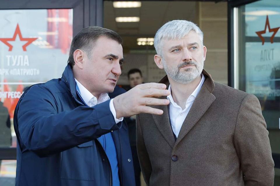 Экскурсию по Восточному обводу для министра транспорта провел губернатор Тульской области Алексей Дюмин